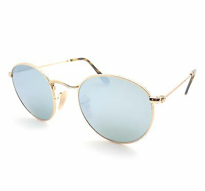 caf9ab0759f ... Ray Ban 3447 N 001/30 Shiny Gold Flat Mirror New Sunglasses Authentic 2