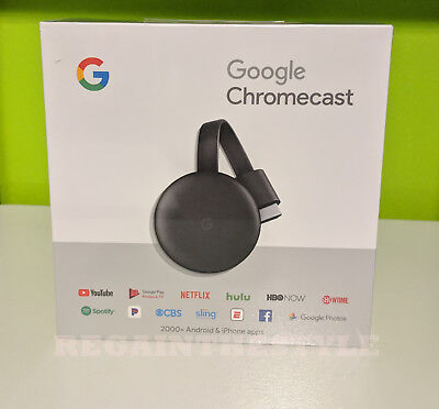 Google Chromecast 3rd Gen Digital HDMI Media Streaming (2018 NEWEST VERSION) NEW 2