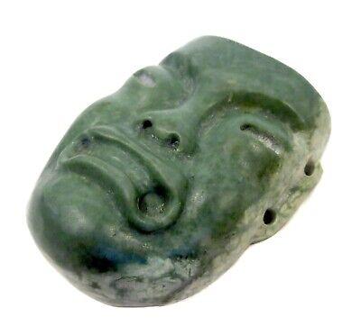 JADEITE Olmec CARVED Face AMULET Pre Columbian 2