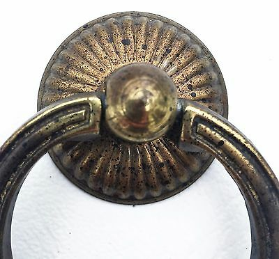 antique hardware vintage ring pull brass knob MCM Mid Century Modern drawer pull 2