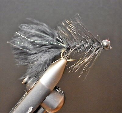 2 Flies Trinas Conehead Rubber Bugger Streamer Streamers Fly Fishing Size 6