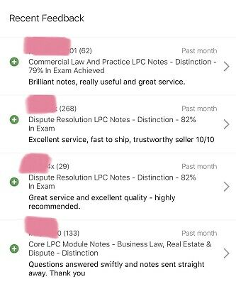 Commercial Law And Practice LPC Notes - Distinction - 79% In Exam Achieved 6