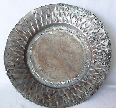 Antique COPPER Metal Dish Tray Soldier Army Serving – Goth Medieval 1700s, Greek 10