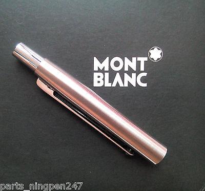 1X Montblanc Slim Line Ballpoint No.2932 Stainless Steel Cap Part Pen NOS 2