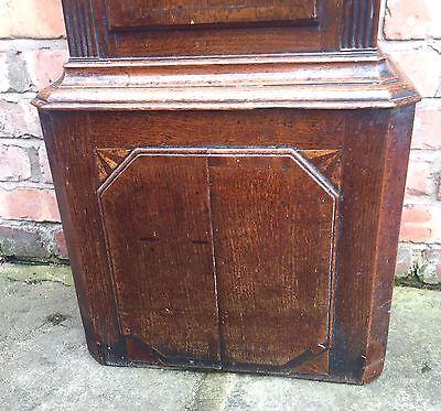 Beautiful Antique Oak And Mahogany Long Case GrandFather Clock 2