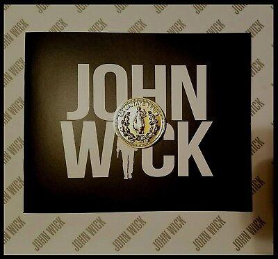 John Wick Challenge Coin Krugerrand Pop Continental Hotel Assassin Keanu Movie 8
