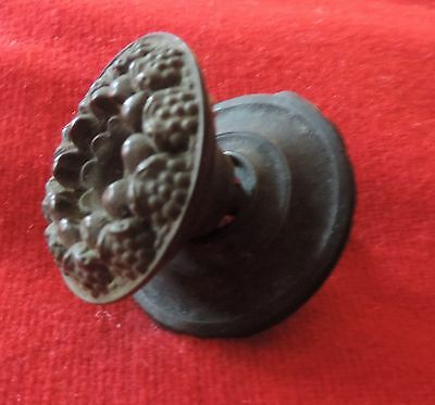 Antique 19th c. Spun Brass Furniture Knob Drawer Pull Handle Federal Regency 7