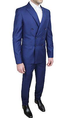 d79437a75c ABITO COMPLETO UOMO Diamond Sartoriale Blu Chiaro Doppiopetto Vestito  Elegante