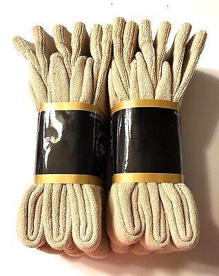 Non-Binding Top DIABETIC Tan Crew Sock Size 10-13, 3/ 6 /12 Pair, Make In USA.