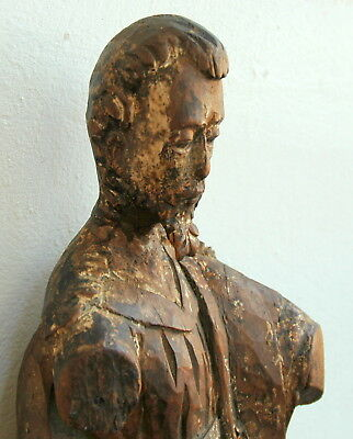 God the Father Carved Wood Antique Santo 17C Spanish Colonial 2