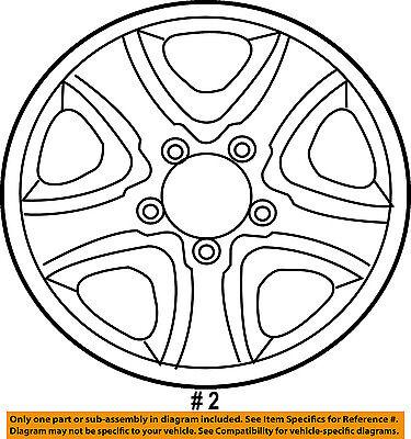 Toyota Oem 08 16 Tundra Steel Wheel 426010c041