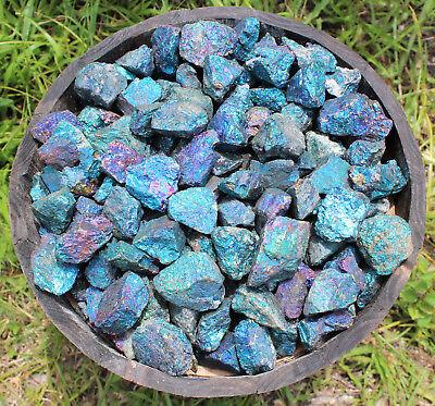 1/2 lb Bulk Lot Raw Rough Natural Chalcopyrite Gemstone Peacock Ore Rock (8 oz)