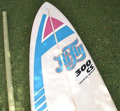 HI FLY 300 CS Corona Speed Windsurf Board, Boom and locking Thule Loading  Rack