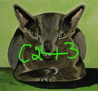 "C102  Original Acrylic Painting By Ljh    ""Tootsie""      Cat 4"