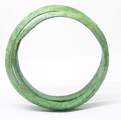 8th - 6th century B.C. Ancient Hallstatt Coiled Bronze Bracelet 6