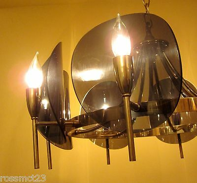 Vintage Lighting dramatic Mid Century chandelier 4