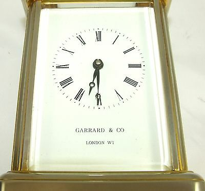ENGLISH GARRARD & CO LONDON W1 Brass Carriage Clock with Original Box : Working 4