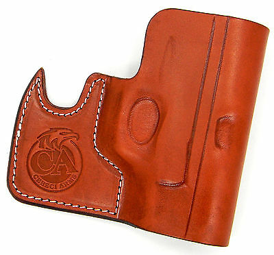CEBECI FRONT POCKET Brown Leather Ccw Concealment Holster - Springfield Xds  3 3