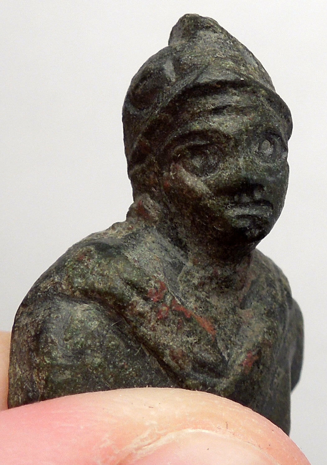Ancient Roman MARS BUST Miniature Amulet of Protection Figure of Soldier i44981 2