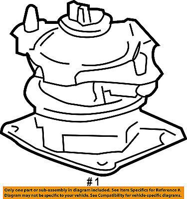 Honda Oem 03 04 Accord Engine Motor Mount Torque Strut 50830sdaa11