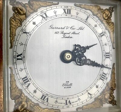 ELLIOTT LONDON Walnut Bracket Mantel Clock GARRARD & CO  112 REGENT ST LONDON 9