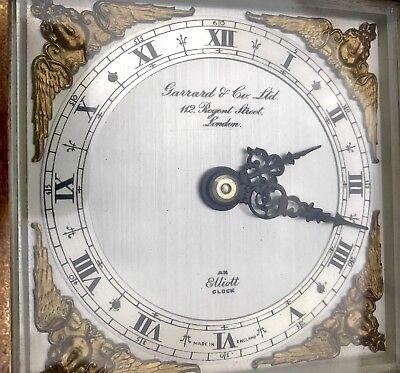 ELLIOTT LONDON Walnut Bracket Mantel Clock GARRARD & CO  112 REGENT ST LONDON 9