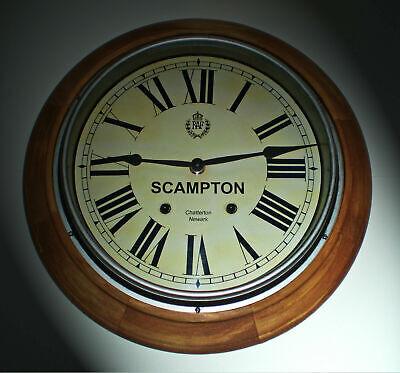 Custom Railway Clock, Victorian Wooden Clock, Bespoke Dial Made to Order. 2