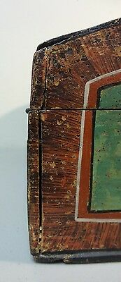 Great 19Th Century Hand Made Wooden Bride's Box, Dome Top, Original Paint 9