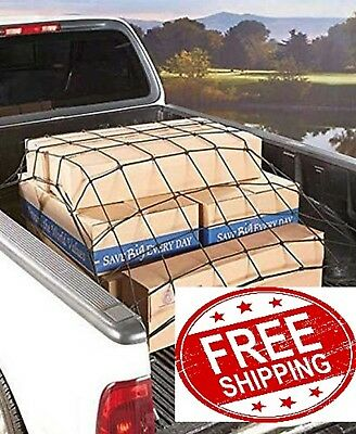 """Cargo Net Bed Tie Down Hooks for Toyota Tacoma Mid Size Short Bed 60/"""" x 74/"""" NEW"""