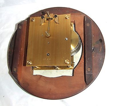 # Antique  rare 8 inch Dial CHAIN Fusee Mahogany Wall School Clock c1900 9