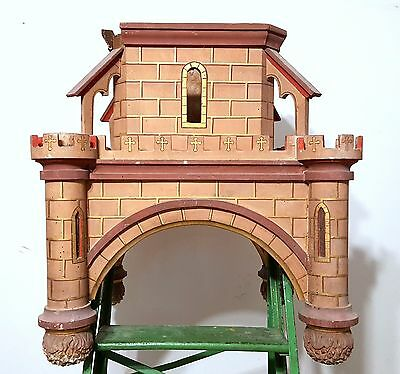 Gothic medieval chateau wall shelf Antique french wood architectural salvage 2