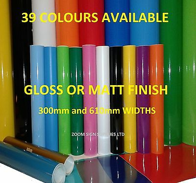 BUY 2 GET 1 FREE 1mtr or A4 Self Adhesive Sticky Back Plastic Sign Vinyl 5