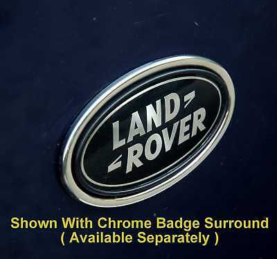 Land Rover Discovery black+Silver Oval rear badge upgrade 1 2 3 LR3 logo genuine 5