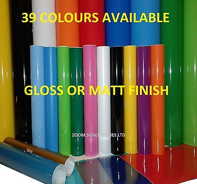 Buy 1 Get 1 Free 1mtr, 5mtr or A4 Self Adhesive Sticky Back Plastic Sign Vinyl 9