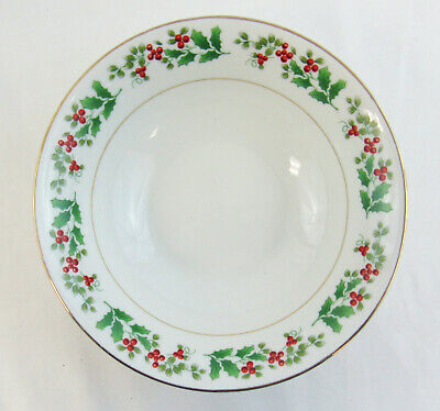 """Gibson Everyday Christmas """"Holly & Berry"""" Set Of 4 Soup / Cereal Bowls 3"""