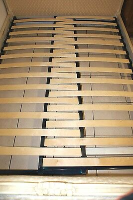 Adjustable SLATTED Bed Base French Demi Corbeille Upholstered Double Beds 10