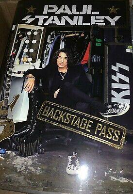Paul Stanley Backstage Pass Signed Book Kiss + Bonus Event Flyer  Ace Gene Peter 7