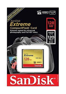 128GB Sandisk Extreme CompactFlash Memory Card (120MB/sec Read - 85MB/sec Write) 2