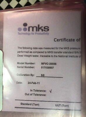 MKS Digital Mass Flow Meter, N2, 3000 SCCM, MFVC-29886, SHIPSAMEDAY 5