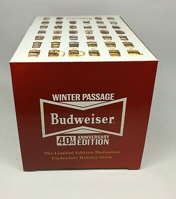 2019 Budweiser Holiday stein beer mug frm annual Christmas series WINTER PASSAGE 4