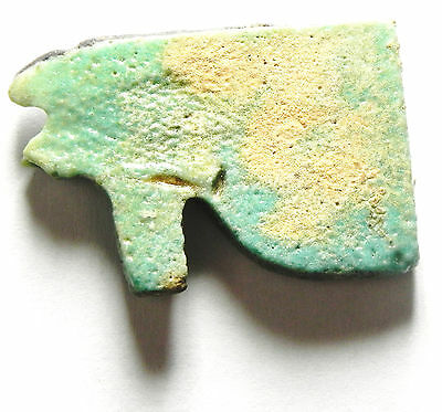 Zurqieh - Sc471- Ancient Large Faience Eye Of Horus Amulet, 1075 - 600 B.c 2