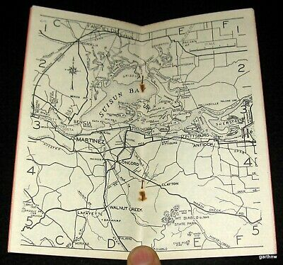 Fishing Maps 1950 San Francisco California Sportsman's Guide Tide Table Spiro's 3