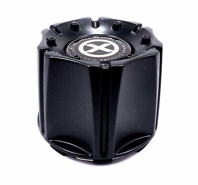 "ATX Series Teflon Black Snap-On Wheel Center Hub Caps 6 Lug 4/"" OD 4x 4pcs"