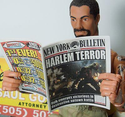 1//6 Scale Custom Newspaper New York Bulletin #5 for Hot Toys Punisher