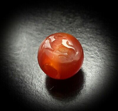 Genuine 3Rd - 7Th Century Ad Sassanian Lion Intaglio Carnelian Stamp Seal Bead 2