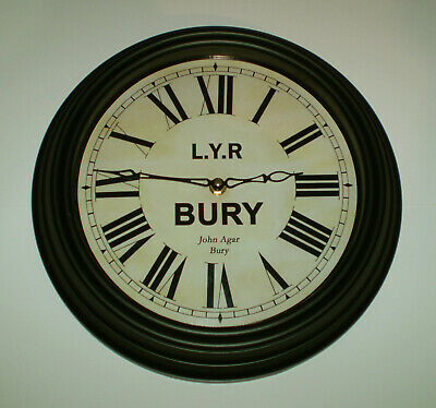 Lancashire & Yorkshire Railway Victorian Style Waiting Room Clock, Bury Station 2