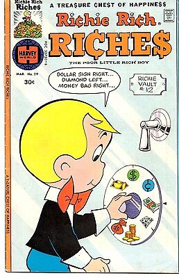 Richie Rich Riches (Lot of 4 Vintage Bronze Age Comic Books) 6 • $9.99