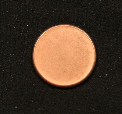 One (1) USA ERROR Coin Blank Planchet Penny Cent 2.5 grams Uncirculated with rim 2