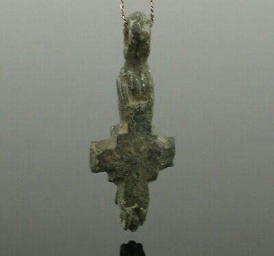 Lovely Byzantine Bronze Reliquary Cross Circa 6Th-12Th Century Ad 899 2