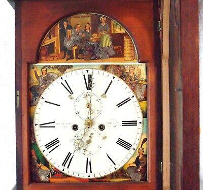 Beautiful Scottish 19th Century Flame Mahogany 8 Day Longcase Clock 7